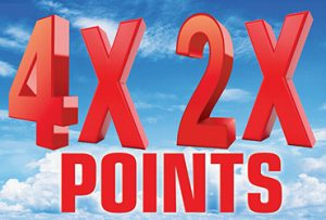 4x and 2x Point Multipliers
