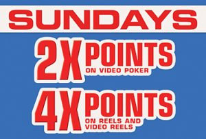 2x and 4x Points Sundays - Las Vegas Slots