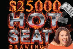 Rampart Casino has your favorite Las Vegas Slots - $25,000 Hot Seat Drawings