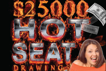 $25,000 Free Slot Play Hot Seats - Las Vegas Slots