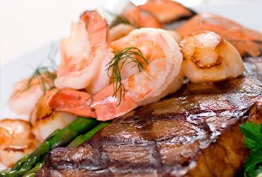 Prime Rib & Shrimp Scampi