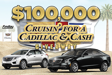 $100,000 Cruising For A Cadillac 'N Cash Giveaway