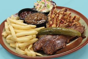 $9.99 Brisket and Chicken Dinner Special