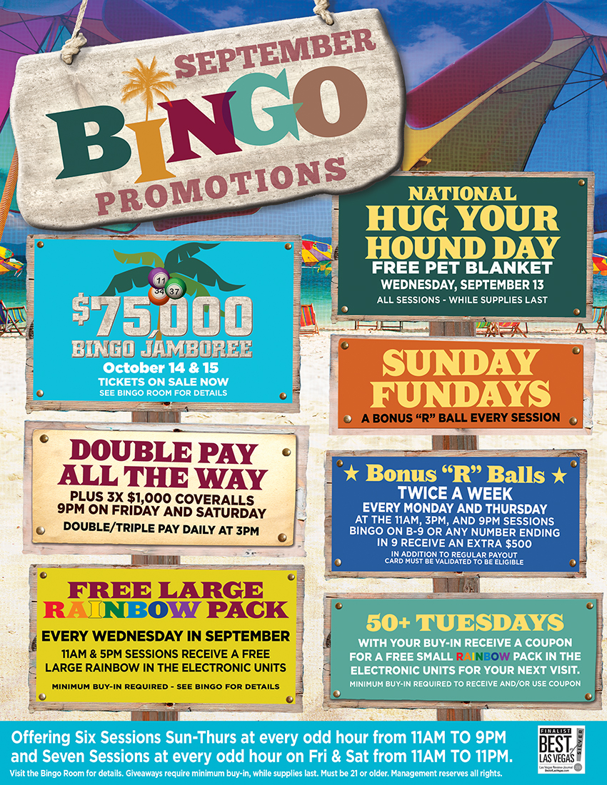 Don t forget – Bingo players can earn entries into all casino-wide drawings  plus earn towards tier status through Bingo play. e670fbdad