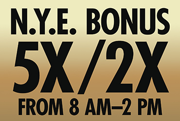 New Years Eve Bonus Point Multipliers