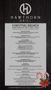 hawthorn grill las vegas christmas brunch menu