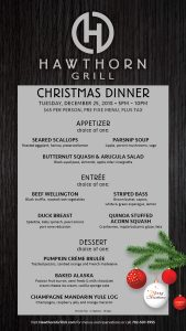 hawthorn grill las vegas christmas dinner