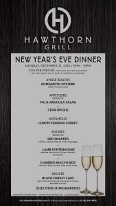 hawthorn grill las vegas New Year's Eve Dinner