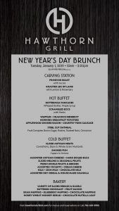 hawthorn grill las vegas New Year's Day Brunch
