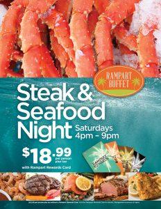 Steak & Seafood Night - Rampart Buffet - Las Vegas Food Deals