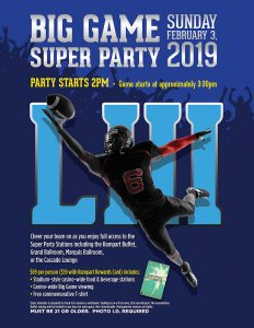 big game super party rampart las vegas promotions