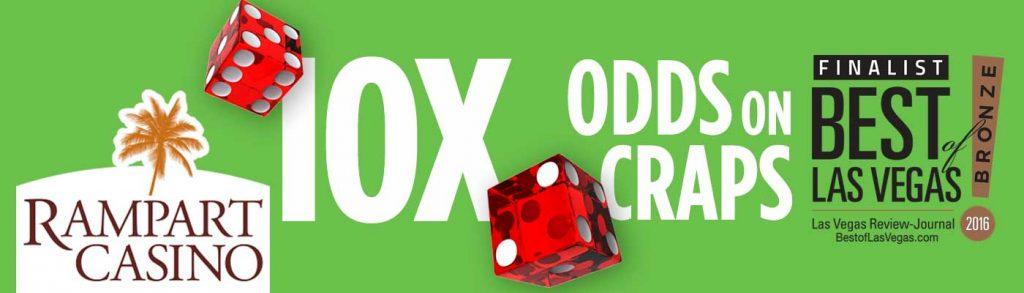 10X Odds in Craps Las Vegas