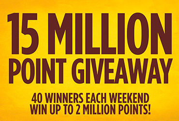 15 Million Point Giveaway