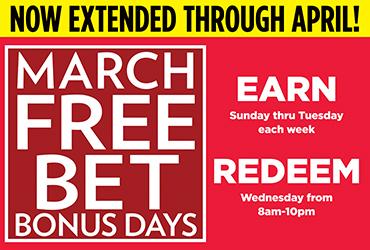 Table Games - Free Bet Bonus Days