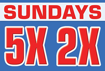 5X and 2X Points Every Sunday - Las Vegas Slots