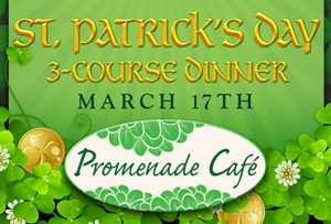 St. Patrick's Day Dinner at Promenade Cafe in Las Vegas