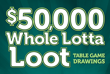 $50,000 Whole Lotta Loot Table Games Drawings - Las Vegas Casino