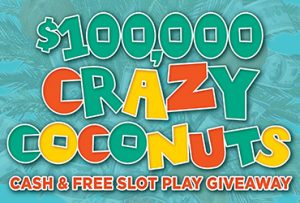 Las Vegas Slots $100,000 Crazy Coconuts Cash & Free Slot Play Drawings