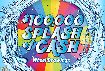 $100,000 Splash of Cash Wheel - Las Vegas Casino