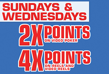 4x and 2x Points Sundays & Wednesdays - Las Vegas Slots