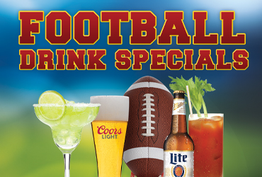 Football Drink Specials - Rampart Race & Sports Bar