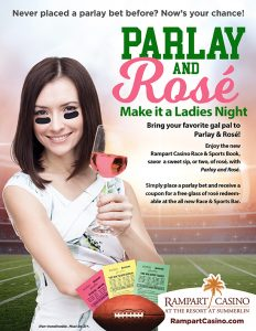 Parlay and Rosé at Rampart Race & Sports Bar