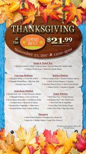 Thanksgiving Dinner at Rampart Buffet - a Las Vegas Buffet