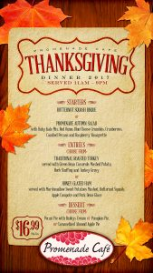 Thanksgiving Dinner at Promenade Cafe a Las Vegas Event