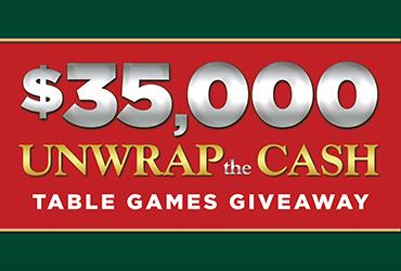 $35,000 Unwrap The Cash Table Games Giveaway - Las Vegas Deals