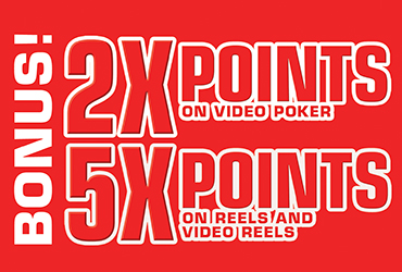 5X and 2X Points December 31 - Las Vegas Slots & Video Poker