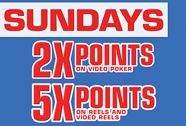 5x and 2x Points Sundays - Las Vegas Slots