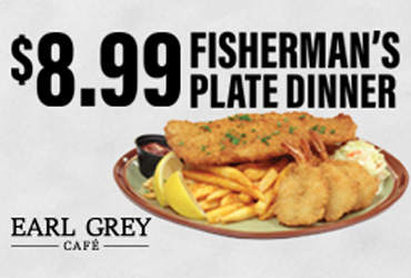 $8.99 Fisherman's Plate Dinner Special