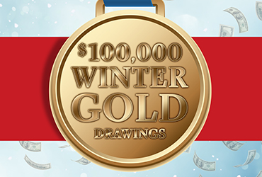 $100,000 Winter Gold Wheel Drawings - Las Vegas Casino