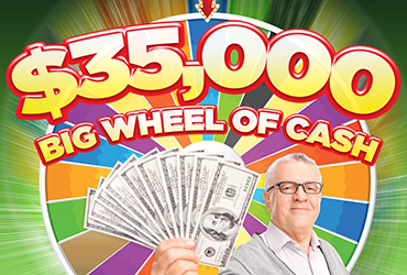$35,000 Big Wheel Of Cash Table Games Drawings - Vegas Deals