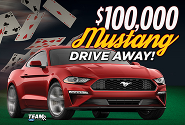 $100,000 Mustang Drive Away Las Vegas Table Games Drawings