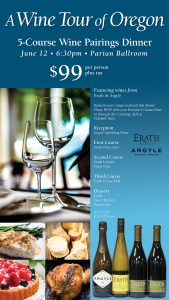 5-course Wine Pairings Dinner - A Wine Tour of Oregon