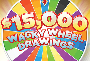 $15,000 Wacky Wheel Casino Drawings