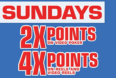 2X and 4X Point Multipliers - Las Vegas Slots