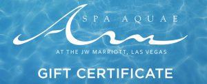 Spa Aquae Gift Certificates