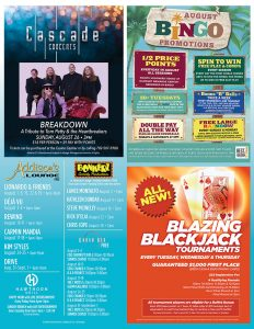august entertainment flyer