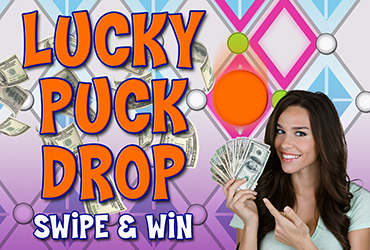 Lucky Puck Drop Swipe & Win
