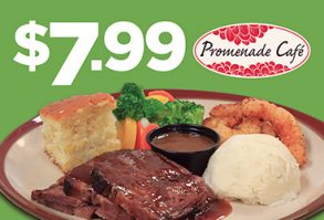 $7.99 Bourbon Brisket & Shrimp Dinner Special