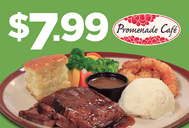 $7.99 Bourbon Brisket & Shrimp Dinner Special