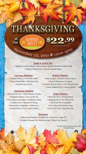 Thanksgiving Dinner at Rampart Buffet