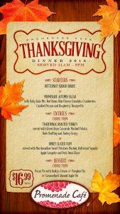 Thanksgiving Dining at Promenade Cafe