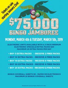 Bingo Jamboree Specials las vegas bingo
