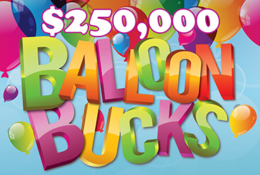 $250,000 Balloon Bucks Drawings - Rampart Casino - Las Vegas Slots