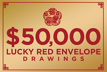 $50,000 Lucky Red Envelope Table Games Drawings - Las Vegas Casino