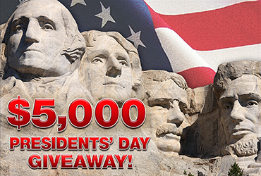 $5,000 Presidents' Day Candy Bar Giveaway - Vegas Event