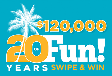 $120,000 20th Anniversary Kick-Off Swipe - Las Vegas Deals